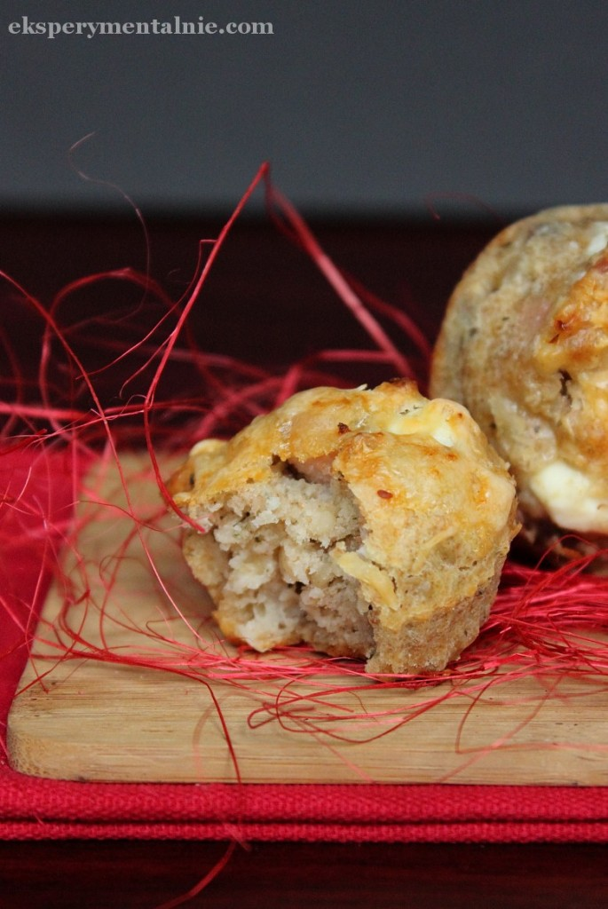 muffinki z szynką i serem
